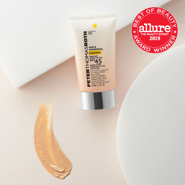 Max Mineral Naked Broad Spectrum SPF 45 Lotion
