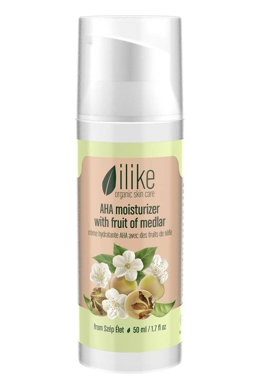 AHA Moisturizer with Fruit of Medlar by Ilike Organic Skin Care  50ml